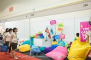 Colourful beanbags at the Doof booth