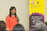 Ms Santhi Latha speaking on the differences between the national and international curriculum