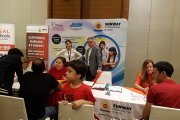 Visitors at Sunway International School's table