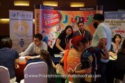 Families at the Fairview International School table