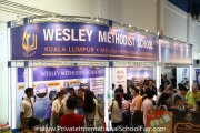 The Wesley Methodist Schools booth