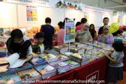 Visitors looking through the array of books at the MPH Bookstores booth
