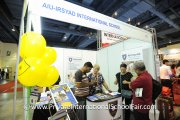 Visitors at the AIU-Irsyad International School booth