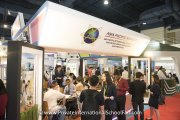 Visitors learning more about Asia Pacific Schools