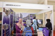 Parents at the Abedeen Academy booth