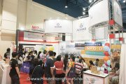 Visitors at the Acmar International School booth