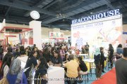 The crowd at the Beaconhouse Schools booth