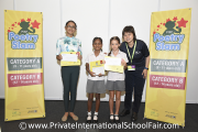 The winners of the PISF Poetry Slam 2018 (Category A) - From left: Kyeisha Nair, Phranayashri Jayabalan, Pietta Willow Watley and Ms Nickie Yew (Co-founder and Director of Mint Communications)