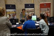 Parents speaking to a Marlborough College Malaysia representative