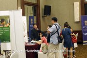 Interested visitors at the Epsom College Malaysia table