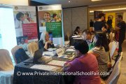 Parents at the Prince of Wales Island International School table