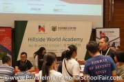 Visitors at Hillside World Academy, Singapore's table