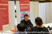 Visitors at University of Reading Malaysia's table