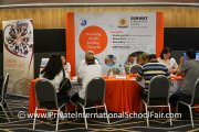 Parents speaking with Sunway International School representatives