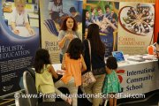 A parent finding out what International Community School has to offer