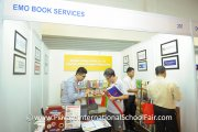 Visitors checking out reading material at the Emo Book Services booth
