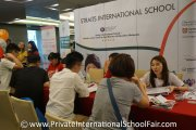 Straits International School representatives speaking to parents