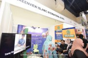 Visitors at Greenview Islamic International School's booth