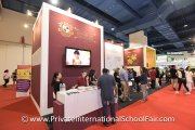 Visitors at the Kingsgate International School booth