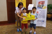 All smiles as we give out our lucky draw Star Wars Lego prizes!