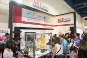Visitors at the MITstem International School booth