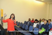 Ms Santhi Latha talking about the advantages of an international school education