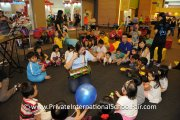 Kids feel the music at the Music & Me activity