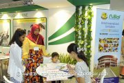Visitors at the Nilai International School booth