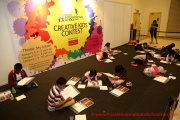 Participants of the PISF Creative Kids Contest busy with their designs