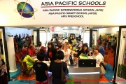 The Asia Pacific Schools booth
