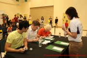 Judges checking the answers from participants