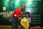 Mr Raajsh Kumar from MPH Bookstores with the 3rd prize winner from Category A