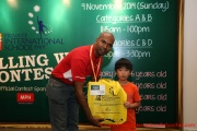 Mr Raajsh Kumar from MPH Bookstores with the 2nd prize winner from Category A