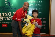 Mr Raajsh Kumar from MPH Bookstores with the 1st prize winner from Category A