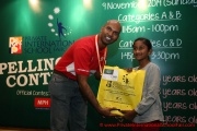 Mr Raajsh Kumar from MPH Bookstores with the 3rd prize winner from Category B