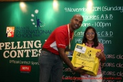 Mr Raajsh Kumar from MPH Bookstores with the 2nd prize winner from Category B
