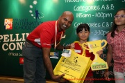 Mr Raajsh Kumar from MPH Bookstores with the 1st prize winner from Category B