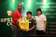 Mr Raajsh Kumar from MPH Bookstores with the 3rd prize winner from Category D