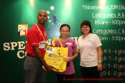 Mr Raajsh Kumar from MPH Bookstores with the 2nd prize winner from Category D