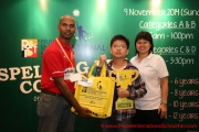 Mr Raajsh Kumar from MPH Bookstores with the 1st prize winner from Category D
