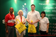 From left: Mr Raajsh Kumar from MPH Bookstores, judges of the contest, Ms Clare Ishak and Mr Graham Williams and Mint Director Ms Nickie Yew