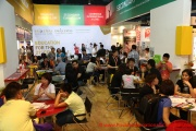 The Sri Emas International School booth were filled with parents