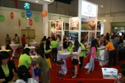 A lively scene at the Westlake International School booth