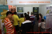 Getting crowded - the Highlands International Boarding School booth