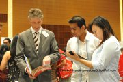 Finding out Marlborough College Malaysia's offerings at the fair