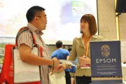 A parent speaks to an Epsom College in Malaysia representative