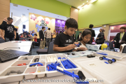 Children building robots at REAL Schools' workshop