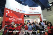 Check out the number of visitors at the R.E.A.L Schools booth!