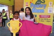 One of the lucky winners who won a beanbag sponsored by Doof!