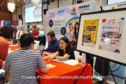 Parents at Sunway International School's table
